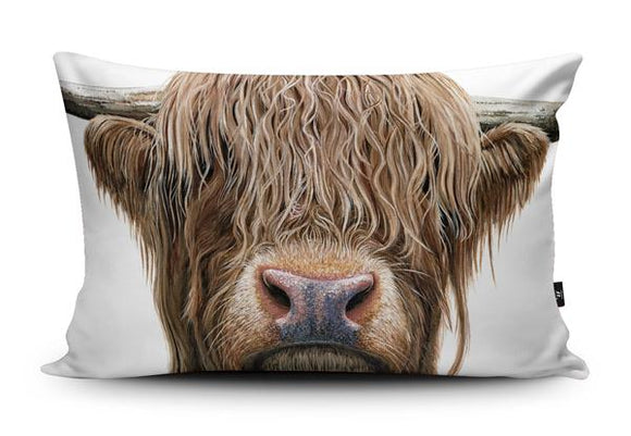 Highland Cow Cushion | Olivia de Rivaz | Wraptious-Poppy Stop-Poppy Stop