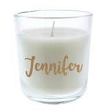 Personalised Gold Name Scented Jar Candle-Poppy Stop-Poppy Stop
