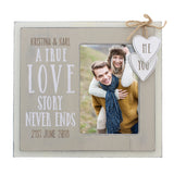 Personalised Love Story 6x4 Wooden Photo Frame-Poppy Stop-Poppy Stop