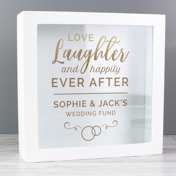 Personalised Happily Ever After Wedding Fund Box-Poppy Stop-Poppy Stop