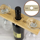 Personalised Married Couple Wine Glass & Bottle Butler-Poppy Stop-Poppy Stop