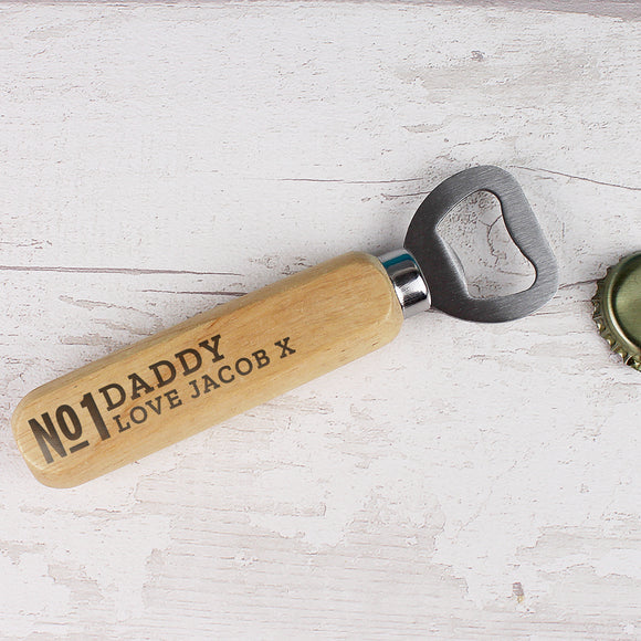 Personalised No.1 Wooden Bottle Opener-PMC-Poppy Stop