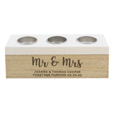 Personalised Married Couple Triple Tea Light Box-Poppy Stop-Poppy Stop