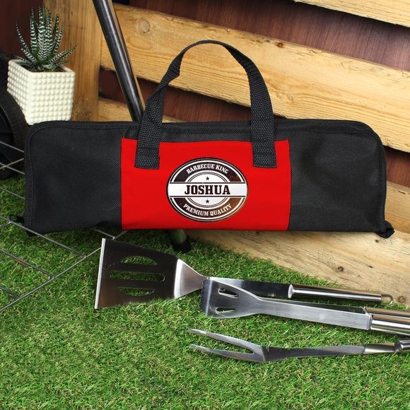 Personalised Stamp Stainless Steel BBQ Kit-PMC-Poppy Stop