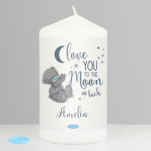 Personalised Me to You 'Love You to the Moon and Back' Pillar Candle-Poppy Stop-Poppy Stop