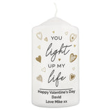 Personalised You Light Up My Life Pillar Candle-Poppy Stop-Poppy Stop