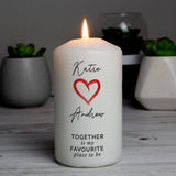 Personalised Together Is My Favourite Place Pillar Candle-Poppy Stop-Poppy Stop