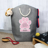 Personalised Pink Paw Print Storage Bag-Poppy Stop-Poppy Stop