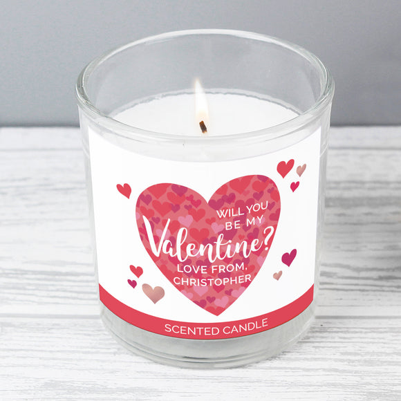 Personalised Valentine's Day Confetti Hearts Scented Jar Candle-Poppy Stop-Poppy Stop