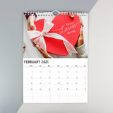 Personalised A4 Couple You And Me Calendar-Poppy Stop-Poppy Stop