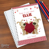 Personalised Boofle Shared Heart A5 Notebook-Poppy Stop-Poppy Stop