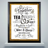 Personalised We Go Together Like... Black Framed Print-Poppy Stop-Poppy Stop