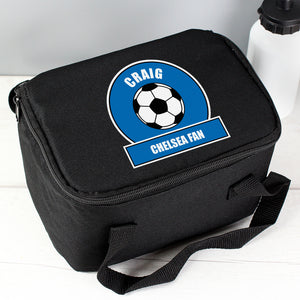 Personalised Dark Blue Football Fan Lunch Bag Personalised Dark Blue Football Fan Lunch Bag PMC poppystop.com