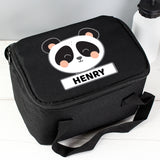 Personalised Panda Black Lunch Bag Personalised Panda Black Lunch Bag PMC poppystop.com