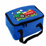 Personalised Tractor Blue Lunch Bag Personalised Tractor Blue Lunch Bag PMC poppystop.com