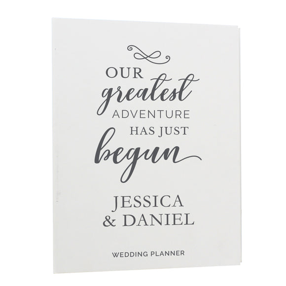 Personalised Our Greatest Adventure Wedding Planner-Poppy Stop-Poppy Stop
