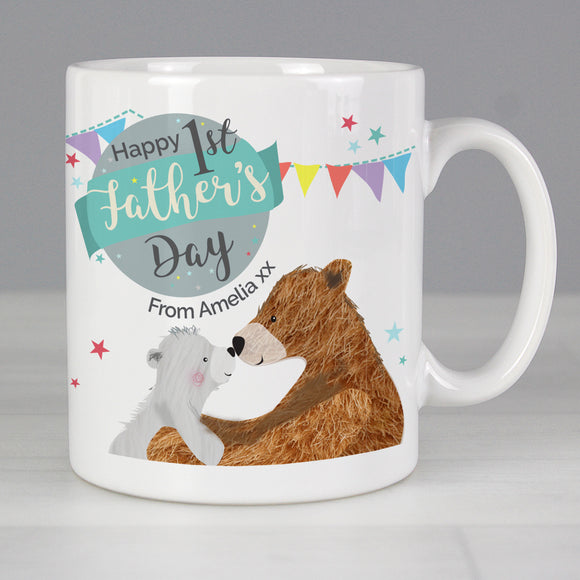 Personalised 1st Father's Day Daddy Bear Mug-PMC-Poppy Stop