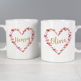 Personalised Confetti Hearts Mug Set-Poppy Stop-Poppy Stop