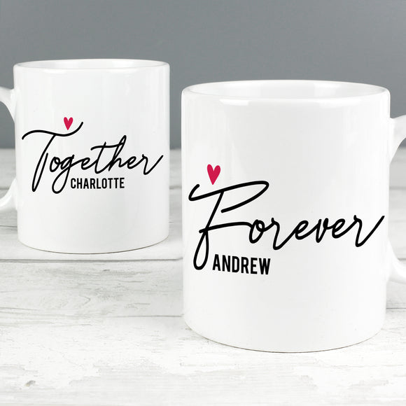 Personalised Together Forever Mug Set-Poppy Stop-Poppy Stop