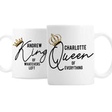 Personalised King and Queen of Everything Mug Set-Poppy Stop-Poppy Stop