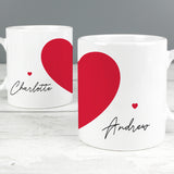 Personalised Two Hearts Mug Set-Poppy Stop-Poppy Stop