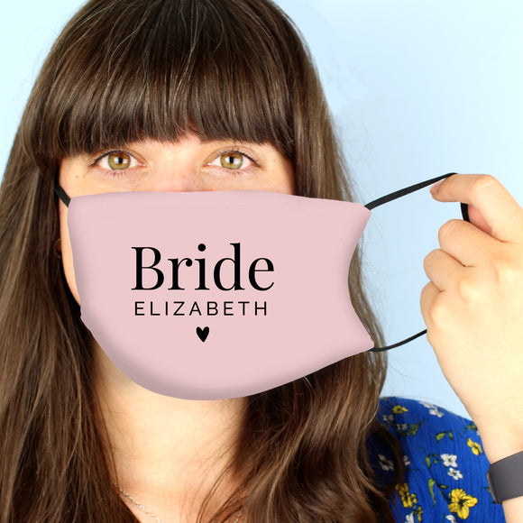 Personalised Bride Face Mask