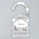 Personalised New Baby Moon & Stars Door Hanger-Poppy Stop-Poppy Stop