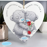 Personalised Me to You Valentine 22cm Large Wooden Heart Decoration-Poppy Stop-Poppy Stop