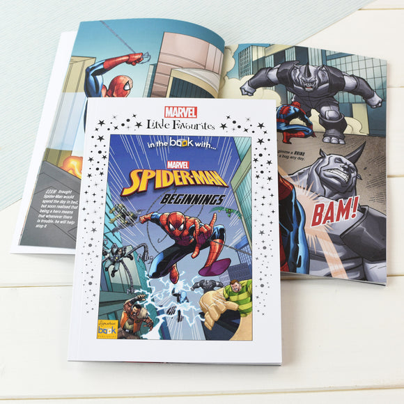 Marvel Little Favourites Spider Man Beginnings - Personalised Book-Signature-Poppy Stop