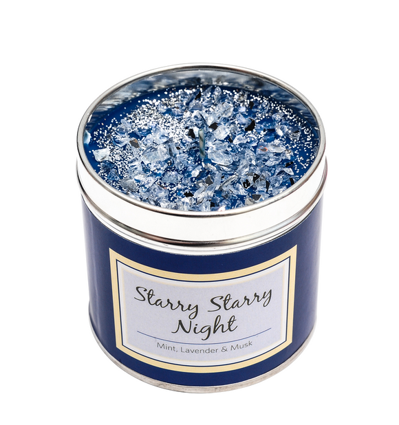 SCENTED CANDLE - STARRY STARRY NIGHT - MINT, LAVENDER & MUSK-Poppy Stop-Poppy Stop