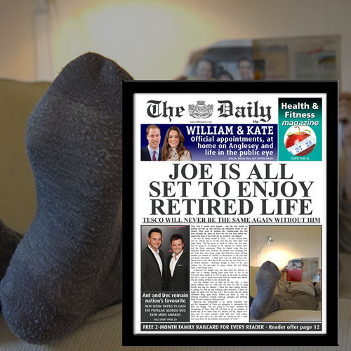 The Daily Retirement Newspaper - Male-Poppy Stop-Poppy Stop
