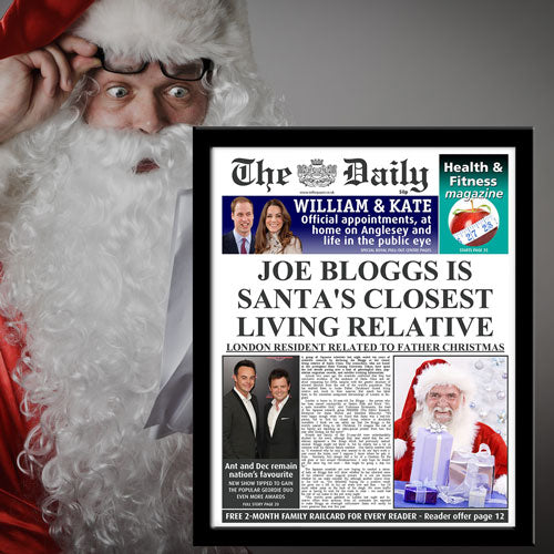 The Daily Santas Closest Relative News Single Page Print - Male-Poppy Stop-Poppy Stop