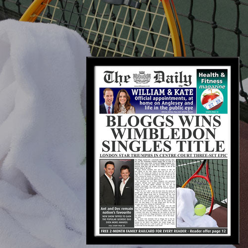 The Daily Tennis News Single Page Print - Female-Poppy Stop-Poppy Stop