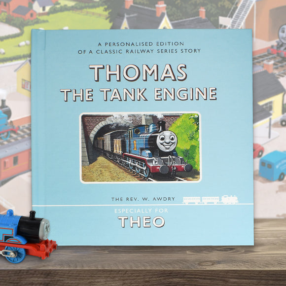Personalised Thomas the Tank Engine First Edition Book-Signature-Poppy Stop