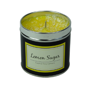 SCENTED GLITTER CANDLE - LEMON SUGAR - PERFECT GFT - 50 HOURS BURN-Poppy Stop-Poppy Stop