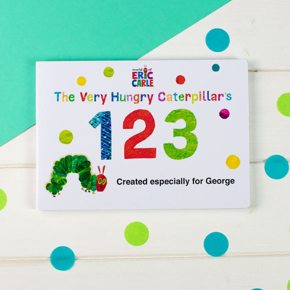 Personalised Very Hungry Caterpillar Board Book - 123-Signature-Poppy Stop