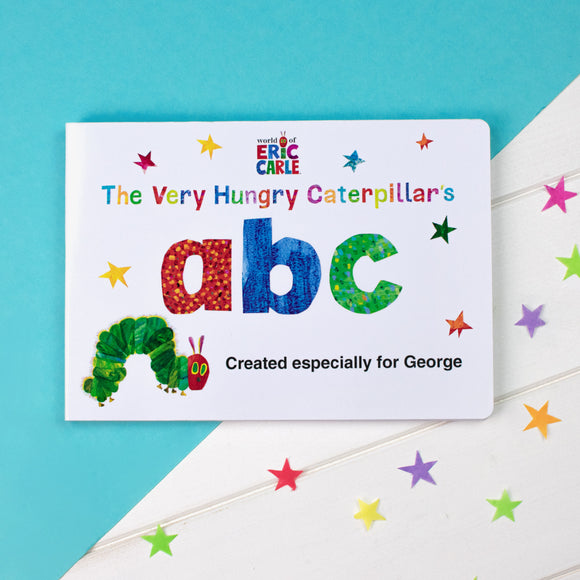 Personalised Very Hungry Caterpillar Board Book - ABC-Signature-Poppy Stop