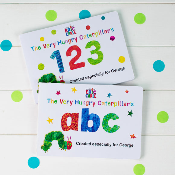 Personalised Very Hungry Catepillar Board Books Dual Box-Set