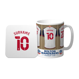 Bolton Wanderers FC Dressing Room Mug & Coaster Set
