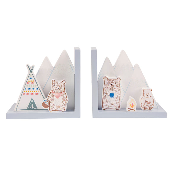 BEAR CAMP BOOKENDS-Poppy Stop-Poppy Stop