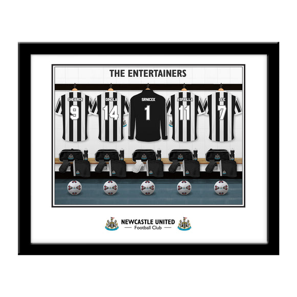 Newcastle United FC 'The Entertainers' Dressing Room Framed Print