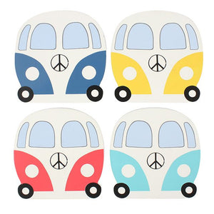 Camper Van Coasters - Set of 4-Poppy Stop-Poppy Stop