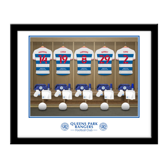 Queens Park Rangers FC Dressing Room Framed Print