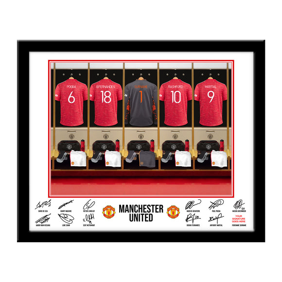 MUFC Goalkeeper Dressing Room Framed Print