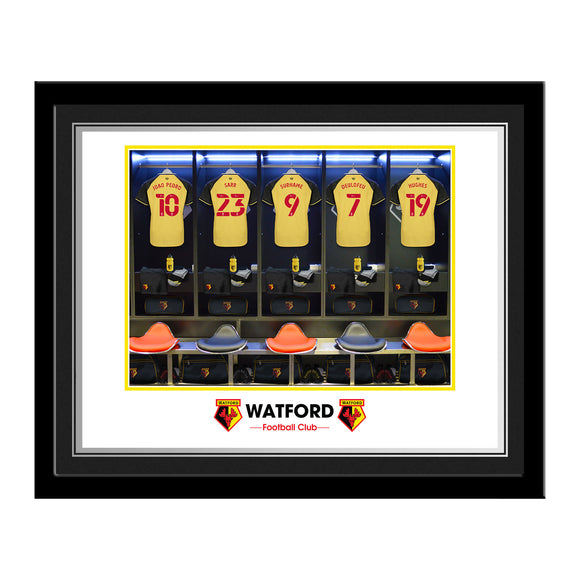Watford FC Dressing Room Photo Framed