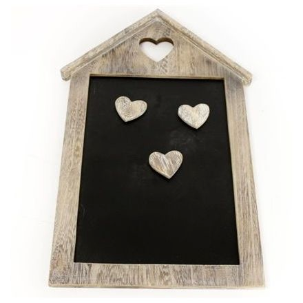 Natural Wooden House Chalkboard-Poppy Stop-Poppy Stop