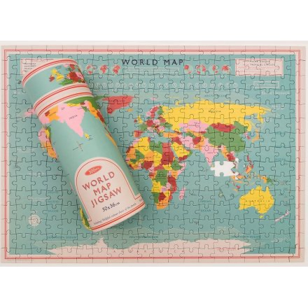 WORLD MAP PUZZLE IN A TUBE-Poppy Stop-Poppy Stop