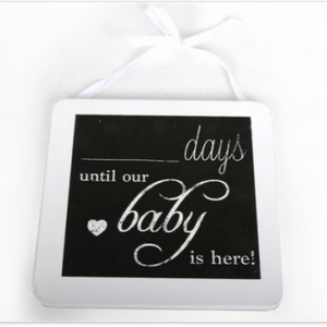 COUNT DOWN BABY PLAQUE-Poppy Stop-Poppy Stop