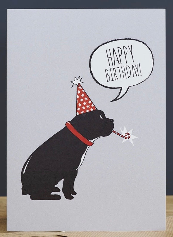 FRENCH BULLDOG BIRTHDAY CARD - SWEET WILLIAM DESIGNS-Poppy Stop-Poppy Stop