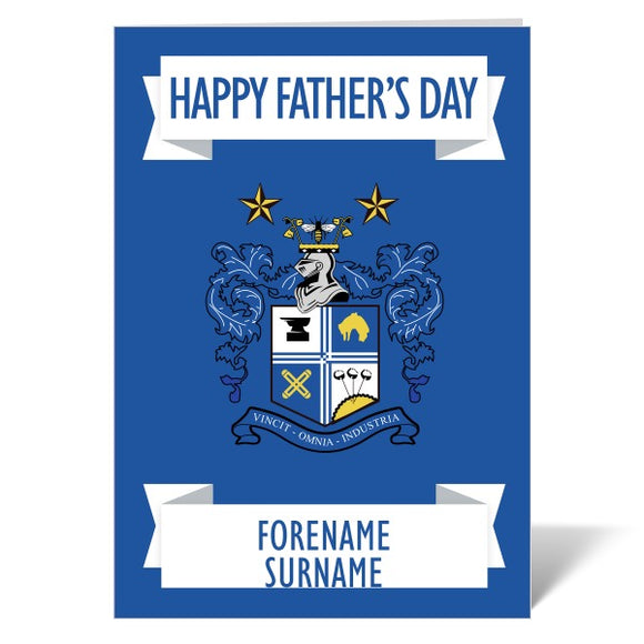 Bury FC Crest Father's Day Card-Poppy Stop-ITP_GC_A4_UK-Poppy Stop